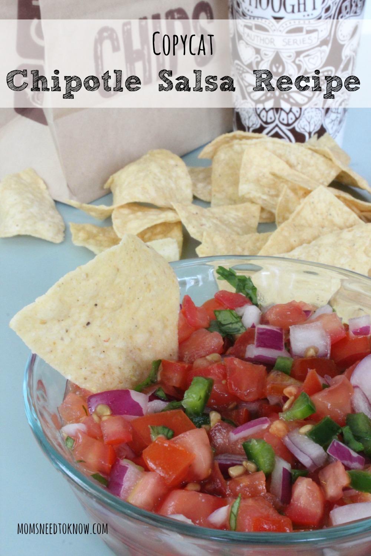 Easy Copycat Chipotle Salsa Recipe