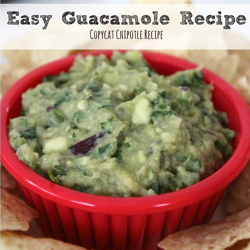 Easy Guacamole Recipe - Copycat Chipotle Recipe sq