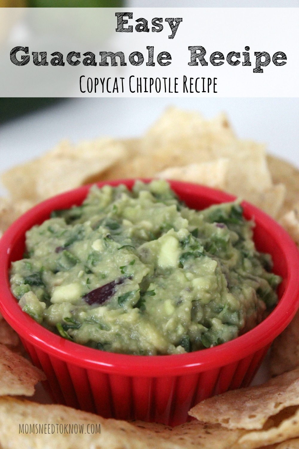 Easy Guacamole Recipe - Copycat Chipotle Recipe
