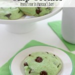 Mint Chocolate Chip Cookies for St Patricks Day