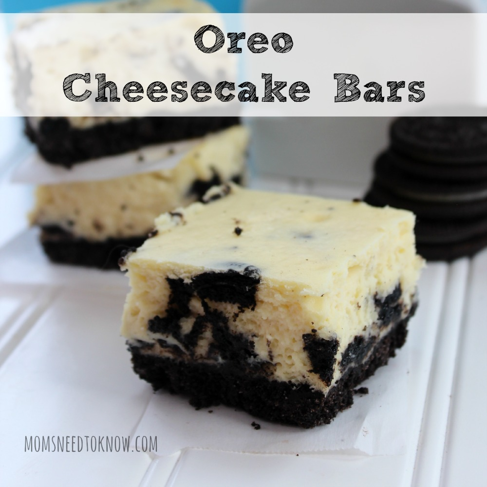 Oreo Cheesecake Bars sq