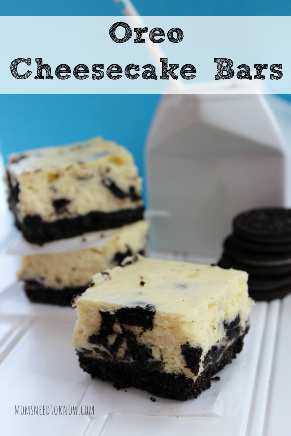 Oreo Cheesecake Bars Recipe | Moms Need To Know ™