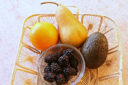 Avocado Pear and Blackberry Smoothie  Healthy Breakfast Idea ingredients