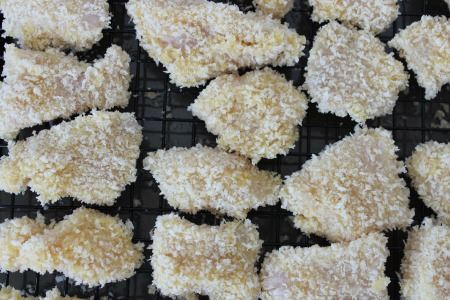 Baked Parmesan Chicken Nuggets process1