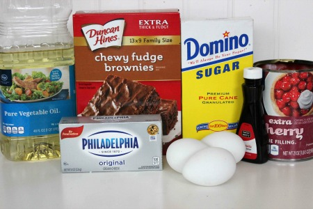 Cherry Cheesecake Brownies ingredients