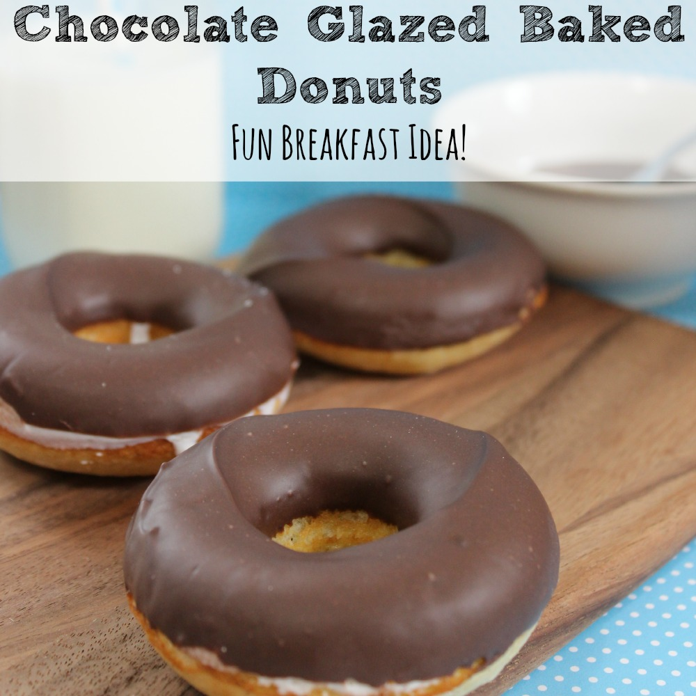 Chocolate Glazed Baked Donuts Recipe sq
