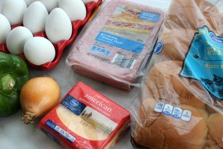 Denver Omelette Breakfast Sliders - Easy To Make and Freezer Friendly ingredients