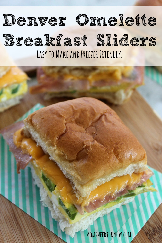 Denver Omelette Breakfast Sliders - Easy To Make and Freezer Friendly
