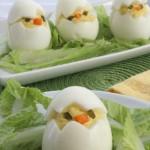 Deviled Egg Chicks - Fun Easter Appetizer