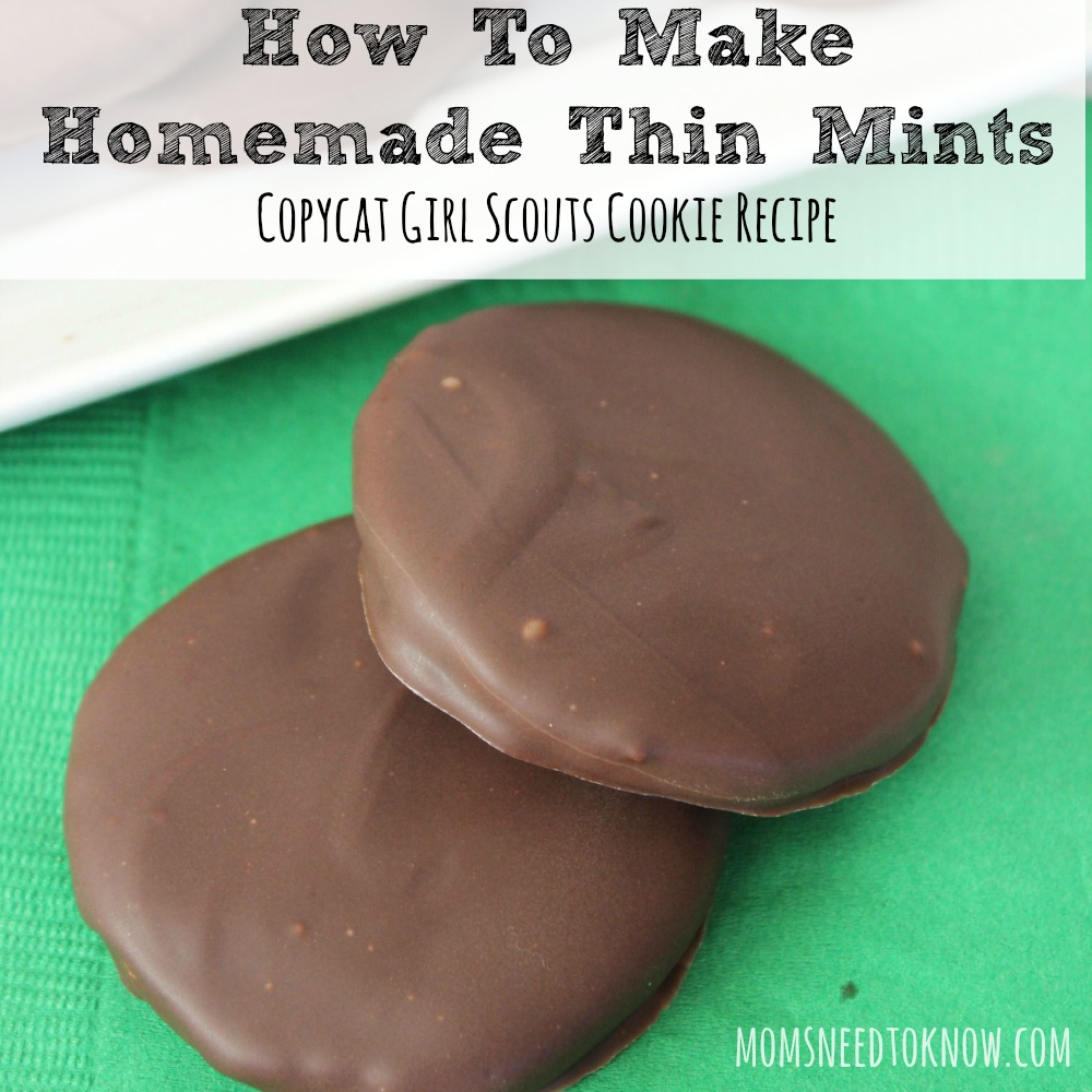 Homemade Thin Mints Copycat Girl Scout Cookies sq