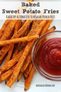 These baked sweet potato fries would be perfect to serve as a side dish!