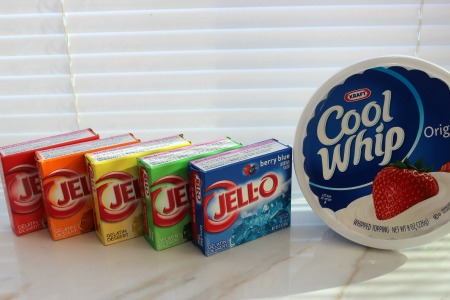 Rainbow Jello Squares ingredients