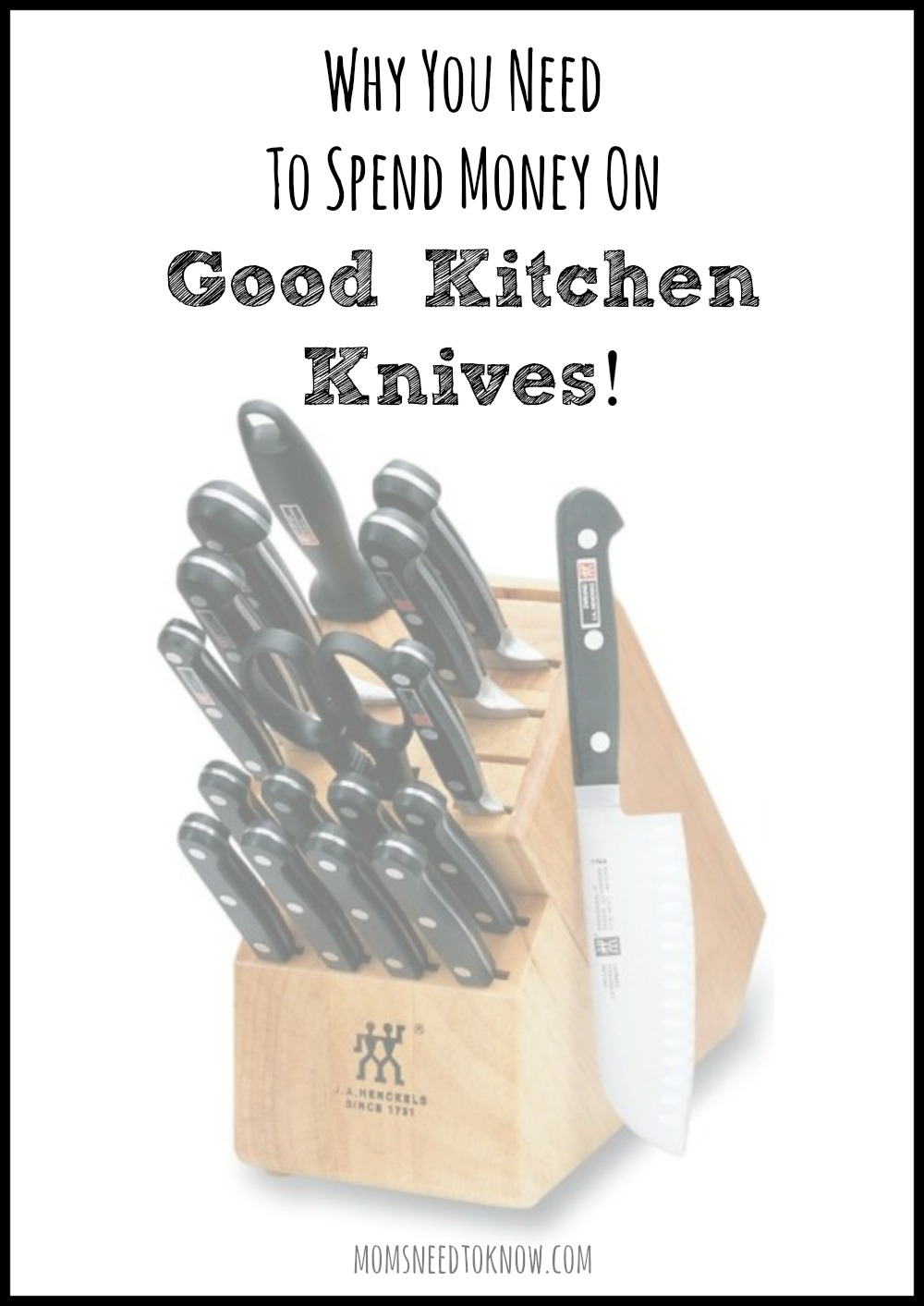 Why You Need To Spend Money on Good Kitchen Knives