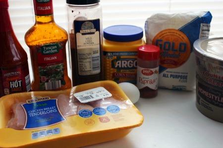 Buffalo Style Chicken Tenders Recipe ingredients
