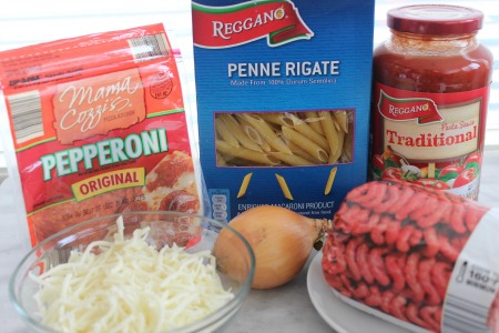 Pepperoni Pizza Pasta recipe ingredients
