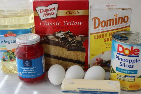 Pineapple Upside Down Cupcakes ingredients