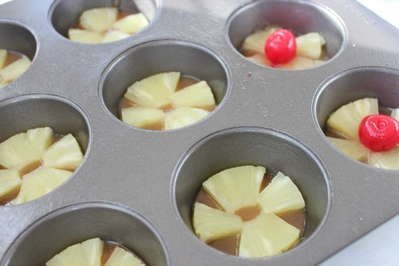 Pineapple Upside Down Cupcakes process2