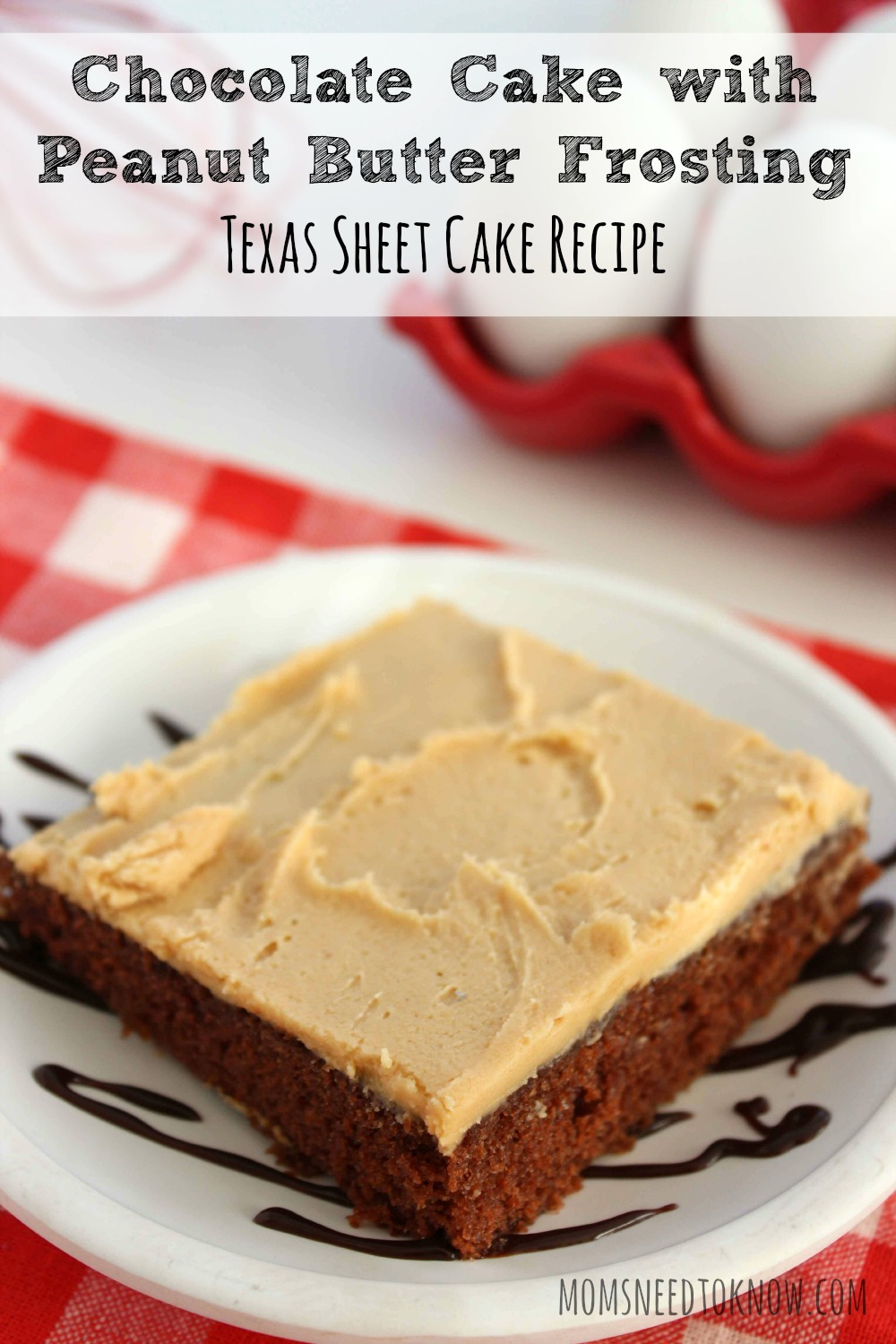 Chocolate Cake With Peanut Butter Frosting | Sheet Cake Perfect for a ...