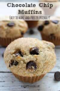 Chocolate Chip Muffins | Easy To Make and Freezer Friendly!