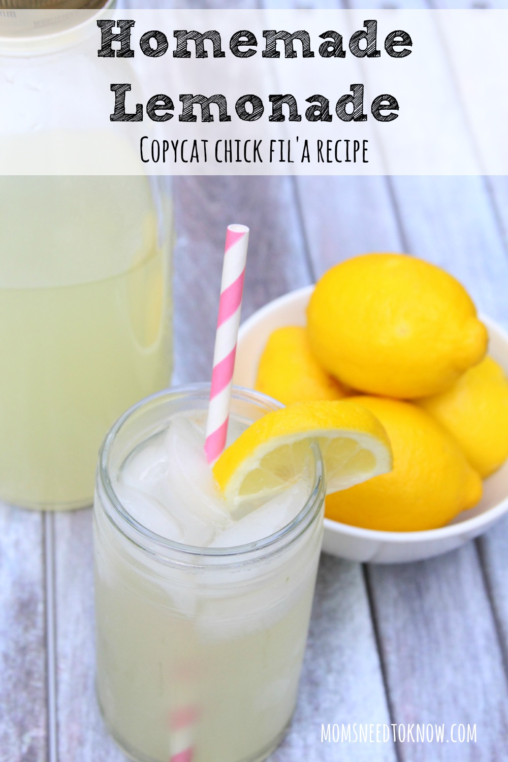 How To Make Homemade Lemonade | Copycat Chick Fil'A Recipe! | Moms ...