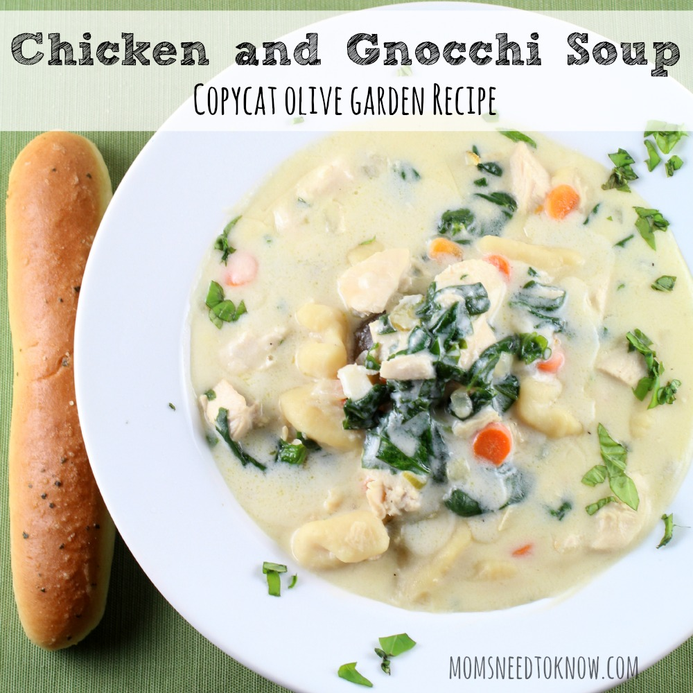 Copycat Olive Garden Chicken and Gnocchi Soup Recipe sq