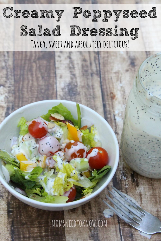 Creamy Poppyseed Salad Dressing