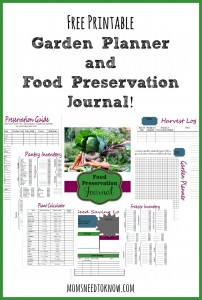 FREE Printable Garden Planner and Preservation Journal