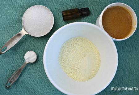 Homemade Milk Bath Ingredients