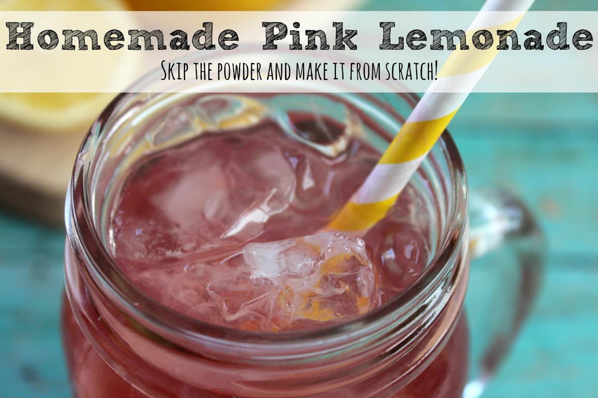 Homemade Pink Lemonade fb