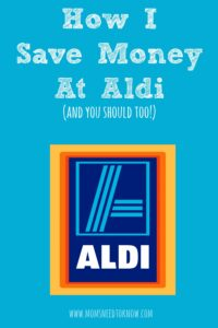 How I Save Money At Aldi