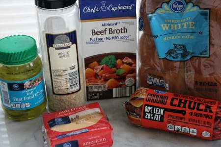How To Make White Castle Sliders ingredients