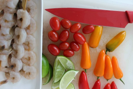Southwest Shrimp Skewers process