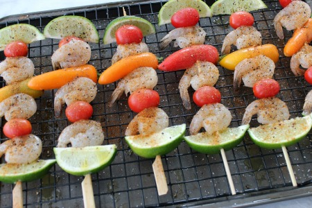 Southwest Shrimp Skewers process1