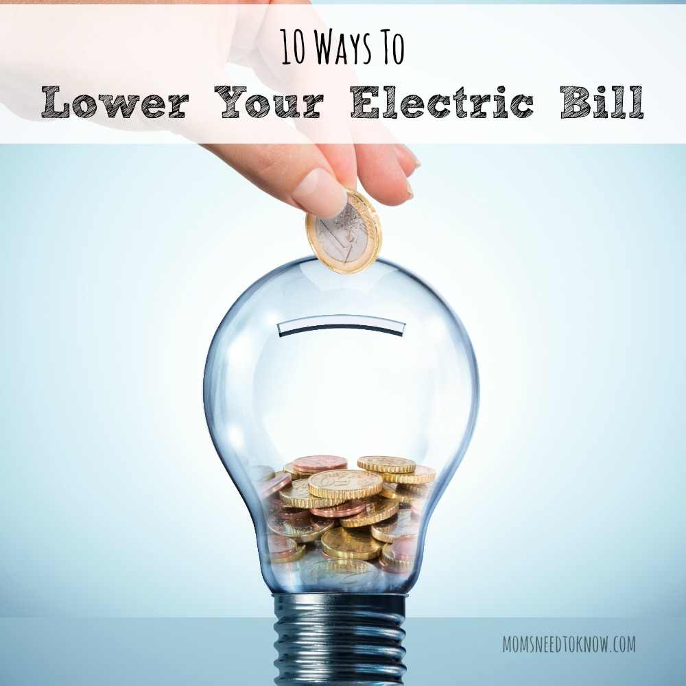 10 Ways To Lower Your Electric Bill sq