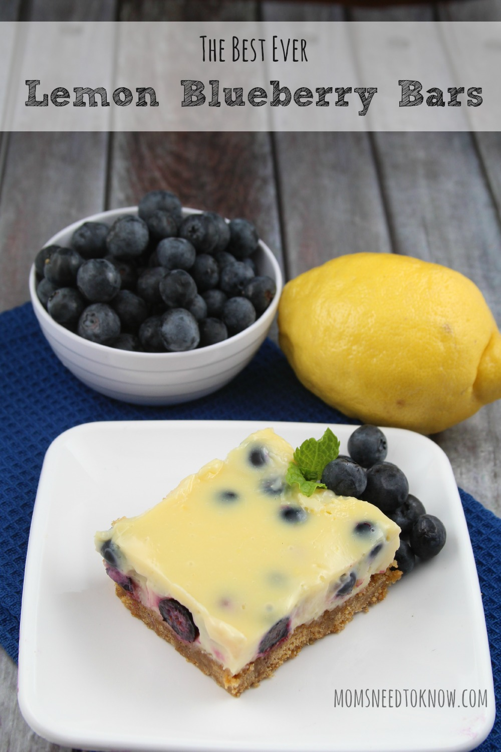 Best Lemon Blueberry Bars Ever