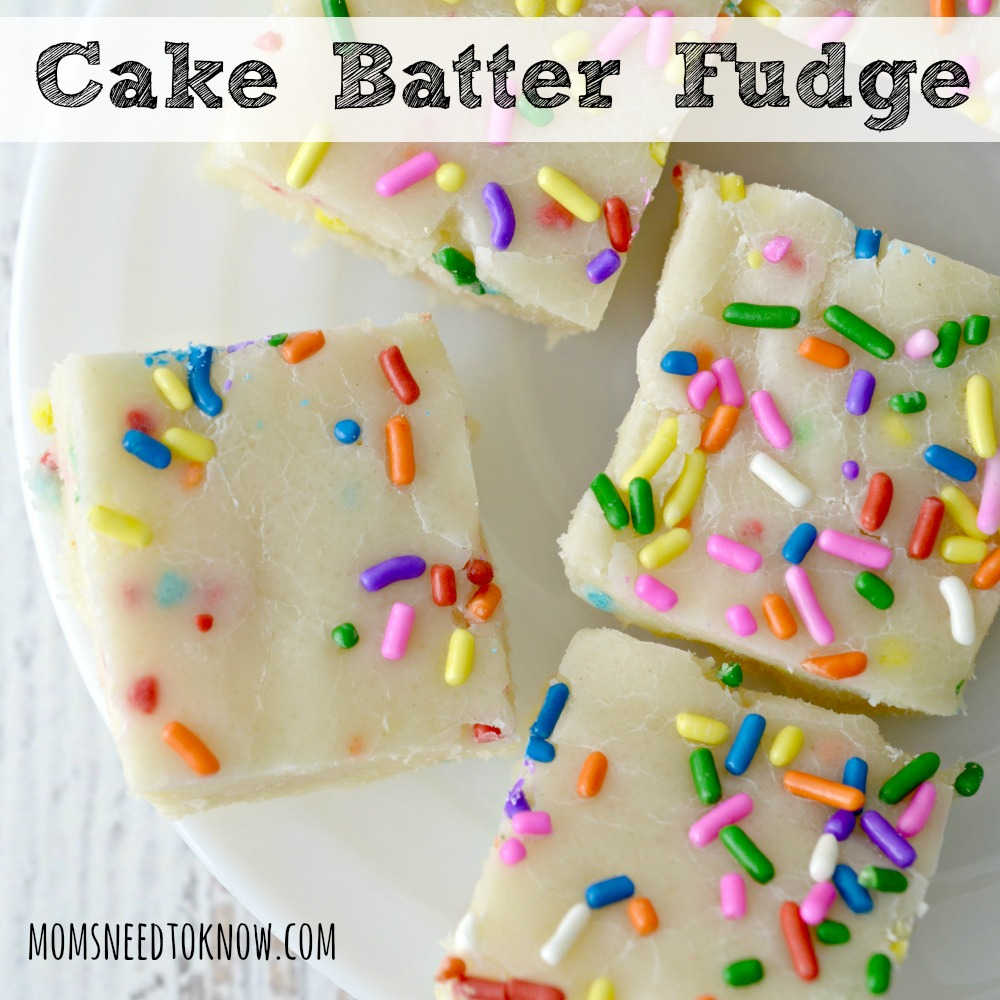 Cake Batter Fudge Recipe sq