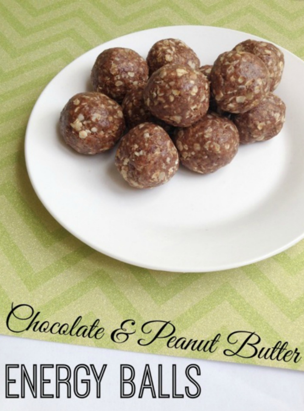 Chocolate and Peanut Butter Energy Balls