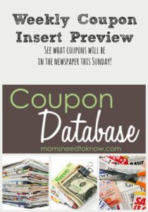 Coupon Insert Preview | Week of March 12, 2017