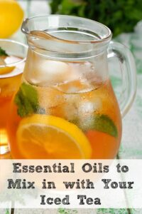 Jazz Up Your Iced Tea With Essential Oils!