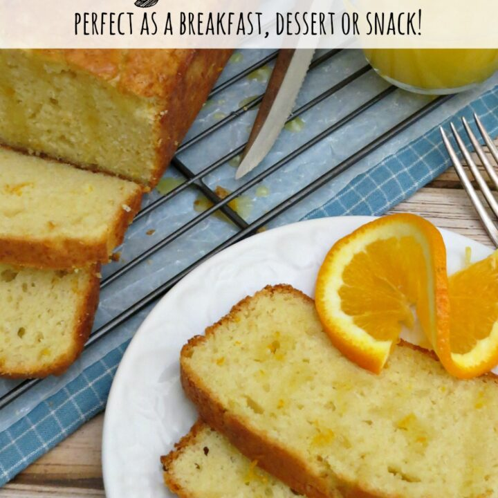 This orange vanilla yogurt bread uses Greek yogurt to give it a ton of moisture. It is so easy to make and can easily be frozen!