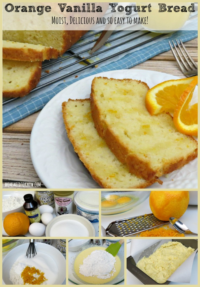Orange Vanilla Yogurt Bread collage
