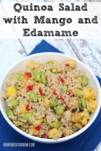 Quinoa With Mango And Edamame