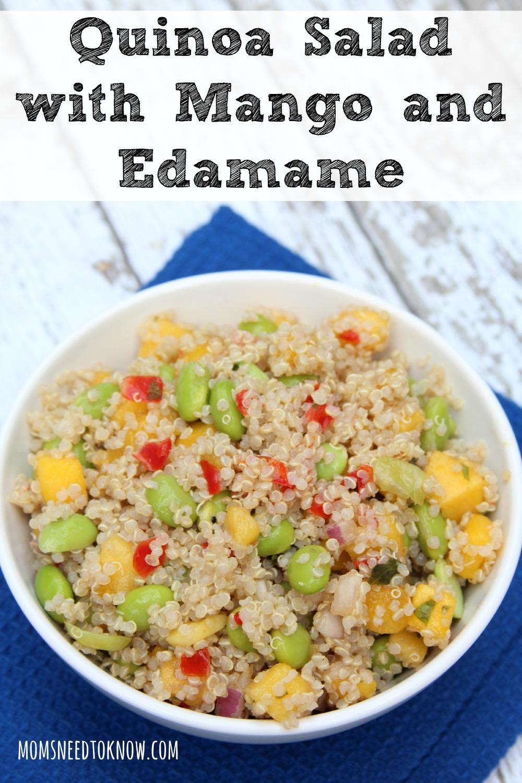 Quinoa With Mango And Edamame