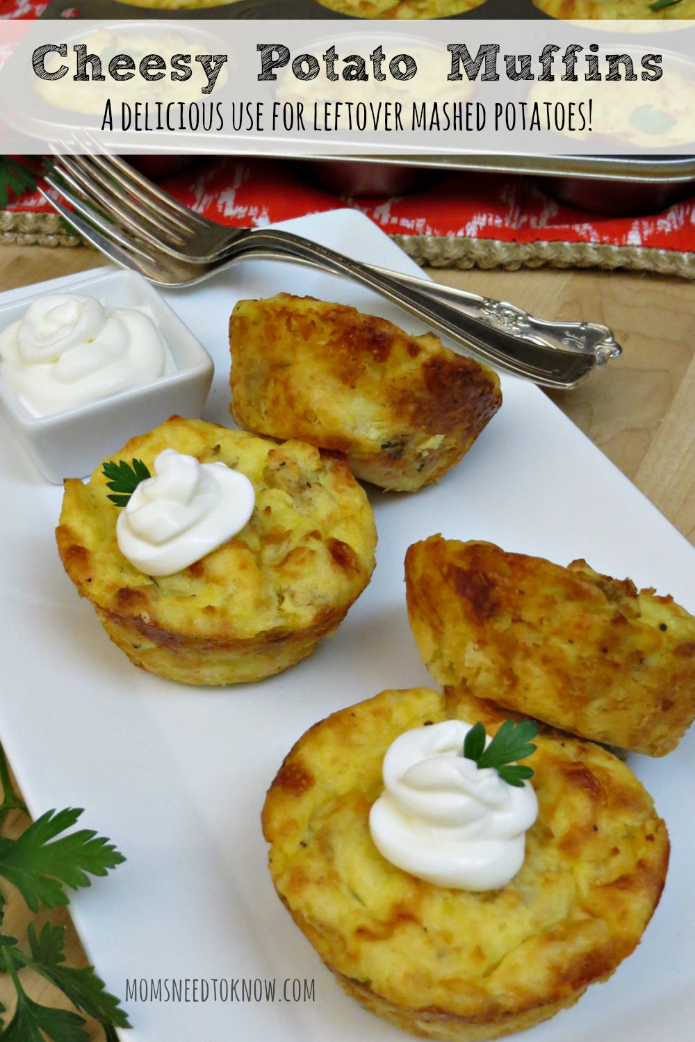 Cheesy Potato Muffins