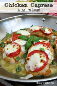 In the mood for something a little more substantial? Try this one-pan Chicken Caprese recipe!