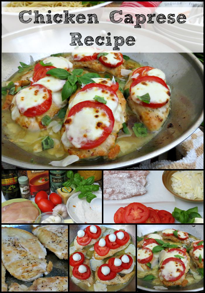 Chicken Caprese Recipe collage