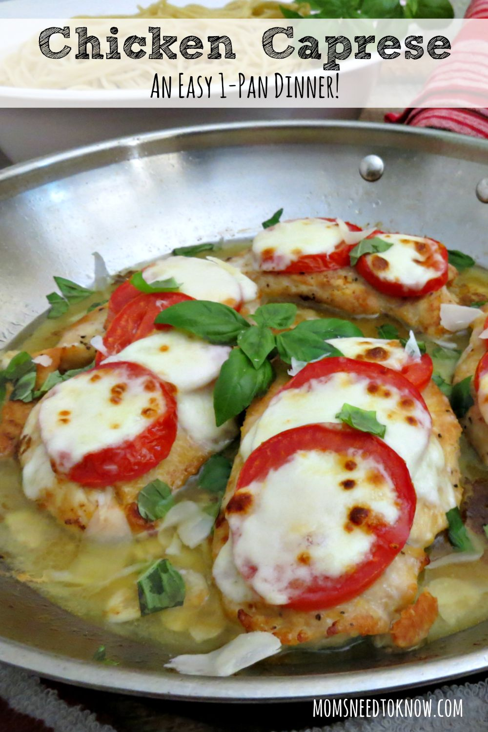 This Chicken Caprese recipe is a lighter version of traditional Chicken Parmesan. Packed with flavor, it is a great way to use up the fresh tomatoes and basil from your garden!