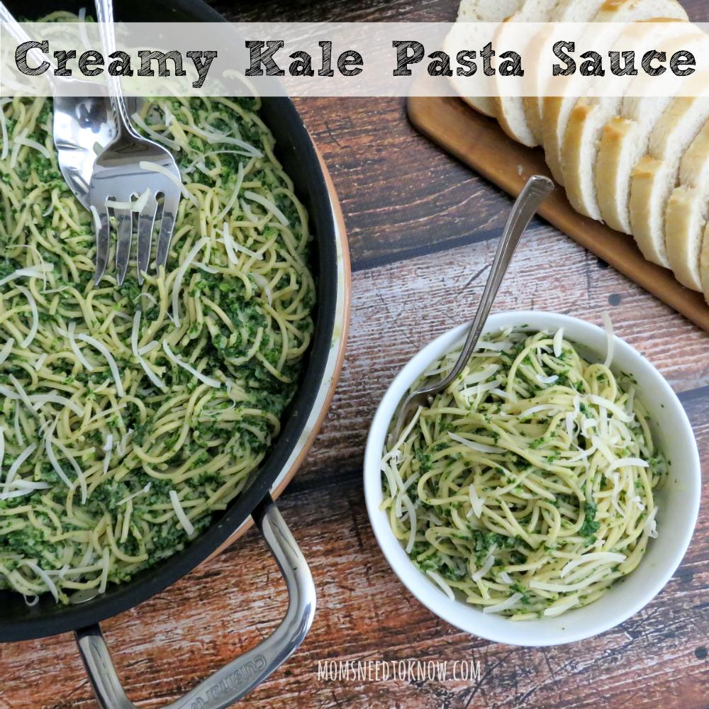 Creamy Kale Pasta Sauce sq