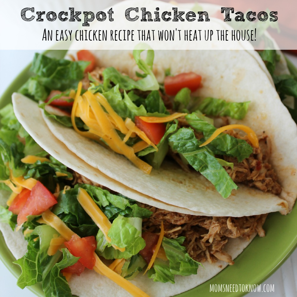 Crockpot Chicken Tacos Recipe sq
