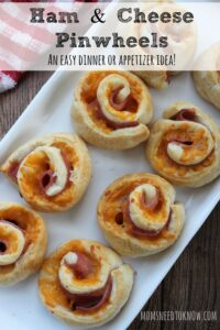 Ham and Cheese Pinwheels  An Easy Dinner or Appetizer Idea